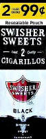 Swisher Sweets Black Cigarillo 2 for 99 Cigars