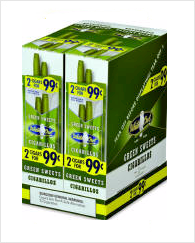 White Owl Green Sweets Cigarillo 2 for 99 - 60 cigars