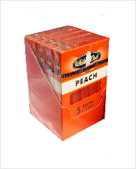 White Owl Peach Blunt Cigars Pak 5/5's
