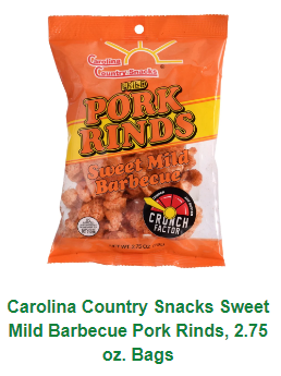 Carolina Country Salt & Vinegar Pork Skins 2.5oz bags