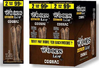 Good Times Woods Leaf Cognac 60ct Cigarillos