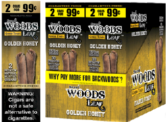 Good Times Woods Leaf Golden Honey 60ct Cigarillos