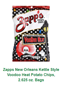 Zapp's Voodoo Heat Potato Chips 2.65oz