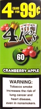 4 Kings Cranberry Apple Cigarillos 4 for 99 / 60ct
