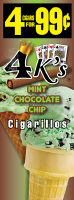 4 Kings Mint Chocolate Chip Cigarillos 4 for 99 / 60ct