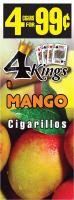 4 Kings Mango Cigarillos 4 for 99 / 60ct