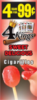 4 Kings Sweet Delicious Cigarillos 4 for 99 / 60ct