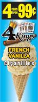 4 Kings French Vanilla Cigarillos 4 for 99 / 60ct