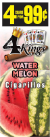 4 Kings Watermelon Cigarillos 4 for 99 / 60ct