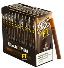 Black & Mild Filter Tip Cigars 10/7's Packs