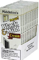 Black & Mild Cream Cigars 10/5's Packs