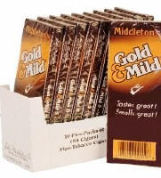 Black & Mild Gold Mild Cigars 10/5's Packs