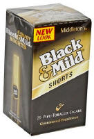 Black & Mild Shorts Original Cigars Uprights 25ct