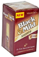 Black & Mild Shorts Wine Cigars  Uprights 25's