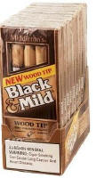 Black & Mild Wood Tip Cigars 10/5's Pack