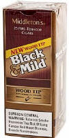 Black & Mild Wood Tip Cigars Upright 25's