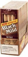 Black & Mild Wine Wood Tip Cigars 10/5's Pack