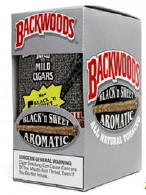 Backwoods Black n Sweet Aromatic Cigars pak 5/8's