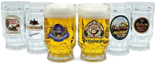 Kauzen German Beer Steins Mugs 14oz