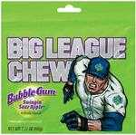 Big League Chew Bubble Gum - Big League Chew Bubble Gum is the official players choice of bubble gum in a pouch. Original - Watermelon - Sour Apple - Grape each box contains 12 pouches of shredded bubble gum.