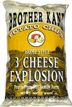 Brother Kane 3 Cheese Potato Chips 2.25oz-12ct