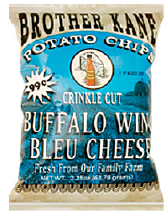 Brother Kane Buffalo Wing Bleu Cheese Potato Chips 2.25oz-12ct