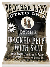Brother Kane Cracked Pepper with Salt Potato Chips 2.25oz-12ct