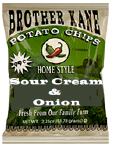Brother Kane Sour Cream & Onion Potato Chips 2.25oz-12ct