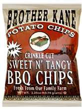 Brother Kane Sweet n Tangy BBQ Potato Chips 2.25oz-12ct