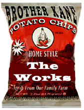 Brother Kane The Works Potato Chips 2.25oz-12ct