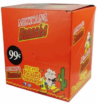 Hannah's Mexicana Pickled Sausage 20ct