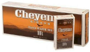 Cheyenne Peach Filtered Cigars carton 200 cigars