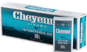 Cheyenne Extreme Menthol Filtered Cigars 10/20's - 200 cigars