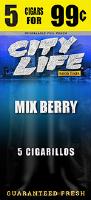 City Life Mixed Berry Cigarillos 15/5 (75 cigars)