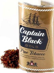 Captain Black Gold Pipe Tobacco 1.5oz-6ct Pouch