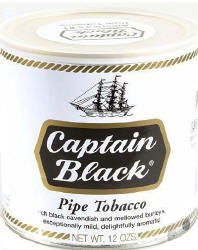 Captain Black White Pipe Tobacco 12oz can