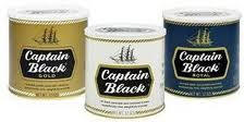 Captain Black Pipe Tobacco 12oz cans 1.5oz pouches