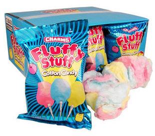 Charms Cotton Candy 2.5oz bags - Fluffy Stuff Cotton Candy