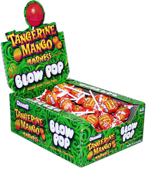Charms Tangerine Mango Blow Pops 48ct