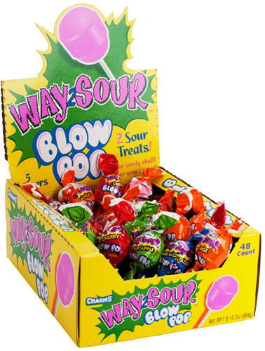 Charms Way Sour Blow Pops 48ct