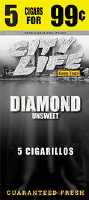 City Life Diamonds Cigarillos 15/5 (75 cigars)