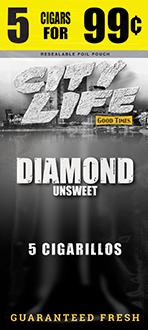 City Life Diamonds Cigarillos 15/5 (75 cigars)
