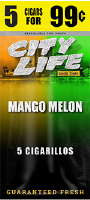 City Life Mango Melon Cigarillos 15/5 (75 cigars)