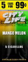 City Life Mango Melon Cigarillos 15/5 (75 cigars)