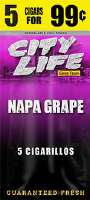 City Life Grape Cigarillos 15/5 (75 cigars)