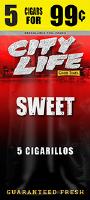 City Life Sweet Cigarillos 15/5 (75 cigars)