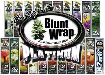 Double Platinum Peach Blunt Wraps 25/2's - 50ct
