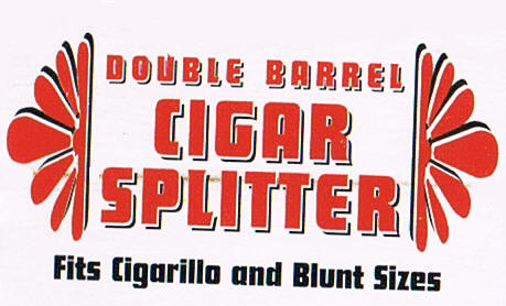 Double Barrel Cigar Splitter for Blunts and CIgarillo's