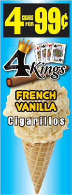 4 Kings French Vanilla Cigarillos 4 for 99 / 60ct
