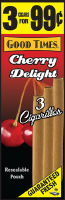 Good Times Cherry Delight Cigarillo Cigars Foil Pouch 3 for 99 - 45 cigars